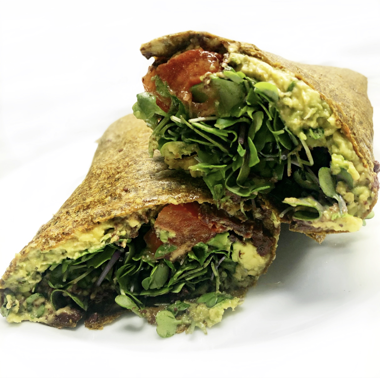 Raw vegan Mediterranean wraps